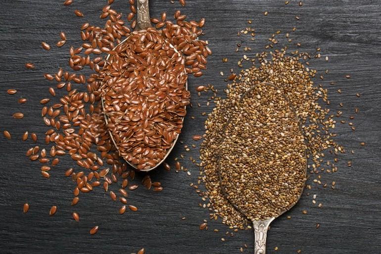 Семена чиа и льна